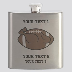Personalized Funny Thanksgiving Flask