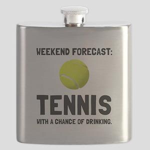 Weekend Forecast Tennis Flask