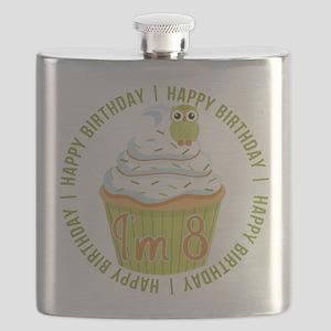 8th Birthday Cupcake Flask