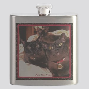 Three Cats Flask