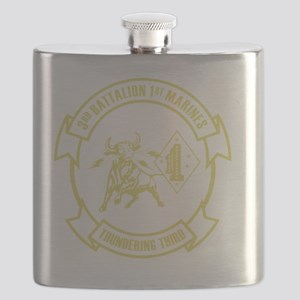 3rd Battalion 1st Marines Front Flask