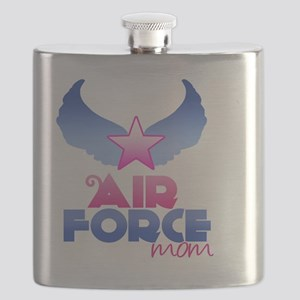 Pink Airforce Mom Flask