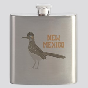 NEW MEXICO Roadrunner Flask