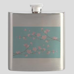 Cherry Blossom - Robin Egg Blue Flask