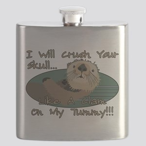 Otter Skull Crush Flask