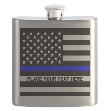 Thin Blue Line Flag Flask