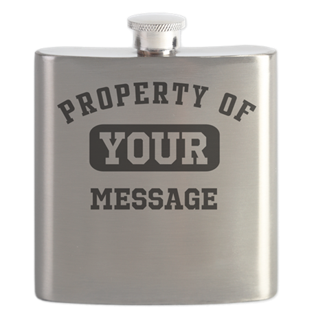 Personalized PROPERTY OF... Flask
