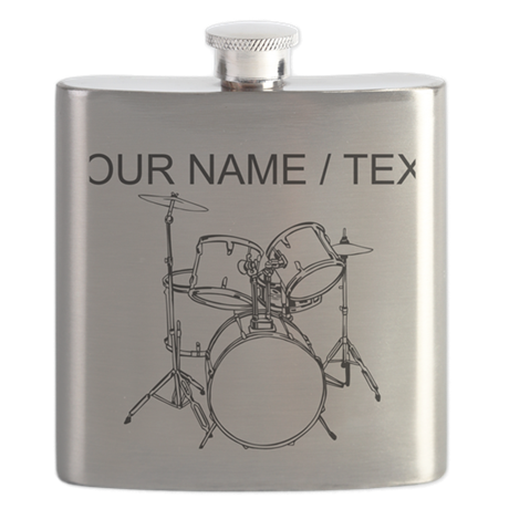 Custom Drum Set Flask