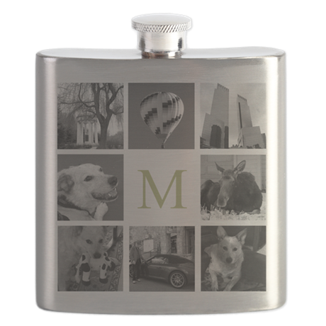 Your Photos Here - Photo Block Flask