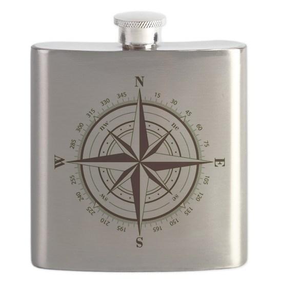 Custom Navigator S Compass Flask By Taudrey Designs Cafepress