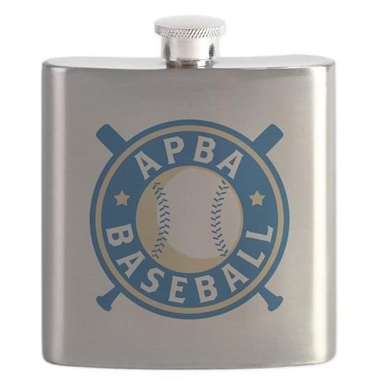 Apba Baseball New Logo Flask