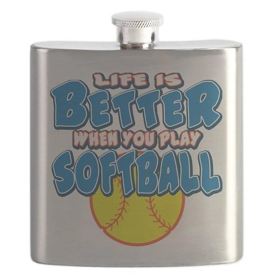 LIFE IS BETTER softball