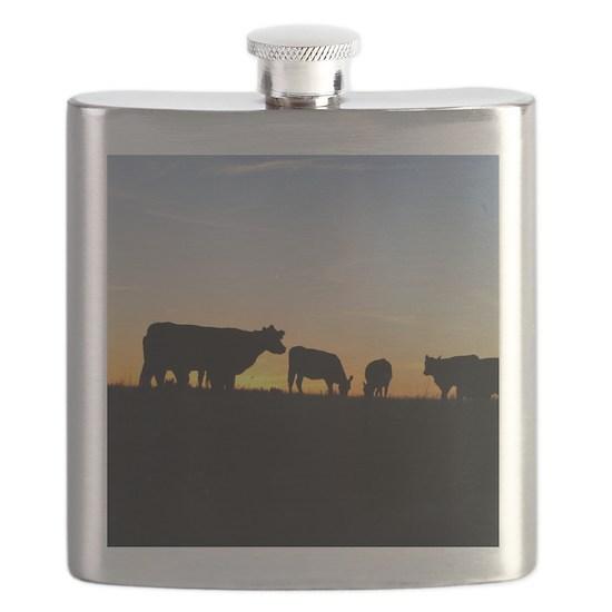 Cows at sundown