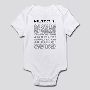 Helvetica Is... (Black) Infant Bodysuit