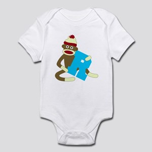 Sock Monkey Monogram Boy R Infant Bodysuit