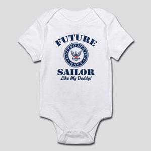 Future Navy Sailor Like My Dad Baby Light Bodysuit