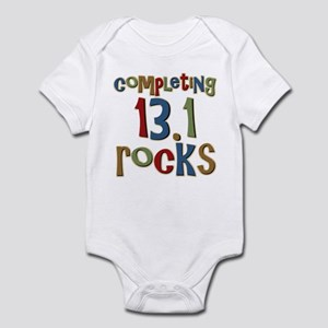 Completing 13.1 Rocks Marathon Infant Bodysuit