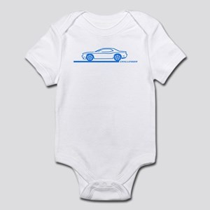 2008-10 Challenger Blue Car Infant Bodysuit
