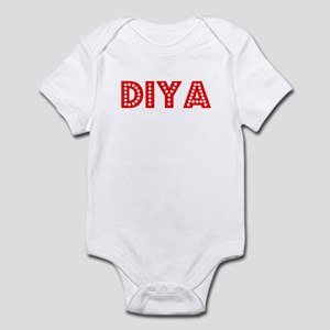 Retro Diya (Red) Infant Bodysuit