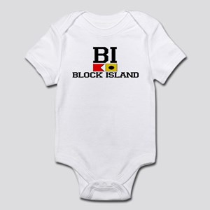 Block Island RI - Nautical Design Infant Bodysuit
