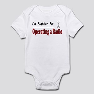 Rather Be Operating a Radio Infant Bodysuit
