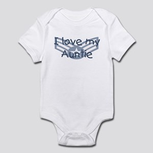 E4 USAF I love my auntie blue Infant Bodysuit