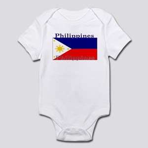 Philippines Filipino Flag Infant Creeper