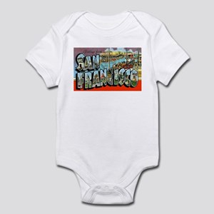 San Francisco California Greetings Infant Bodysuit