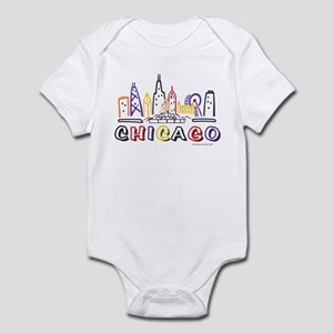 Cute Chicago Skyline Infant Bodysuit