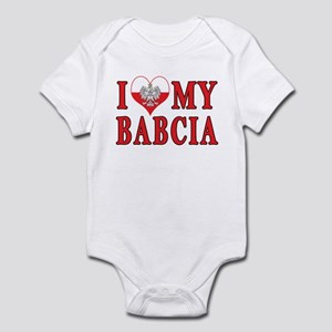 I Heart My Babcia Infant Bodysuit