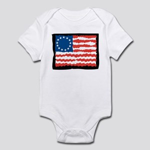 Ruffled Betsy Ross Infant Bodysuit