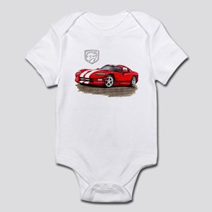 Viper Red/White Car Infant Bodysuit