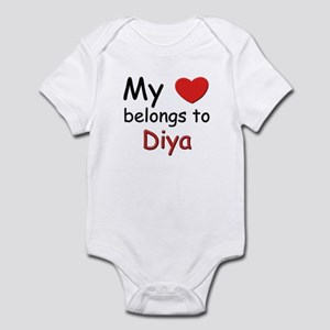 My heart belongs to diya Infant Bodysuit