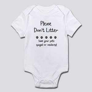 Please Dont Litter Infant Bodysuit