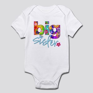 big sister t-shirt flower Infant Bodysuit