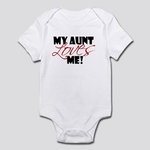 my aunt loves me Infant Bodysuit