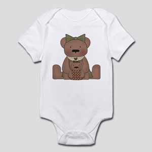 Teddy Bear With Teddy Infant Bodysuit