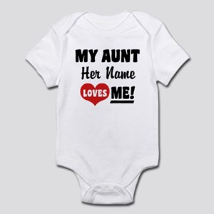 My Aunt loves Me Personalized Infant Bodysuit