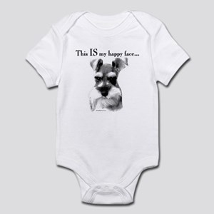 Schnauzer Happy Face Infant Bodysuit