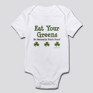 Eat Your Greens Shamrock Infant Bodysuit