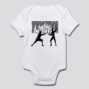 Fencing Logo (Black & Grey) Infant Bodysuit