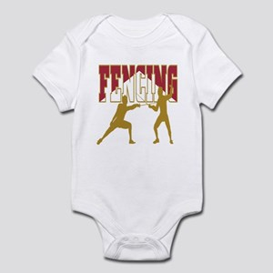 Fencing Logo (Red & Gold) Infant Bodysuit