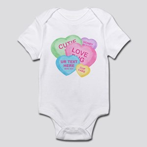 Fun Candy Hearts Personalized Infant Bodysuit