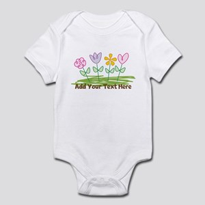 Custom Cute Flowers Body Suit