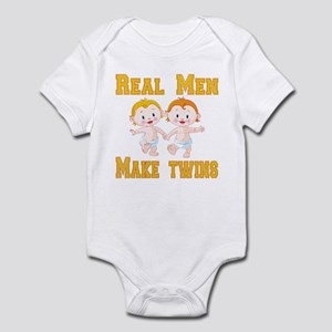 Real Men Make Twins Infant Bodysuit