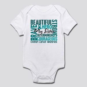 Tribute Square Ovarian Cancer Infant Bodysuit