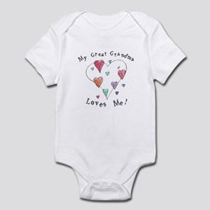 323f38ee Blessed Grammy T-Shirt. $24.99. My Great Grandma Loves Me Infant Bodysuit