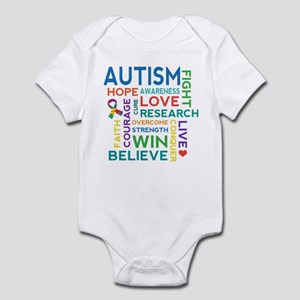 Autism Word Cloud Infant Bodysuit