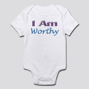 I Am Worthy Infant Bodysuit