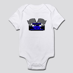 ROYAL BLUE RACE CAR Infant Bodysuit